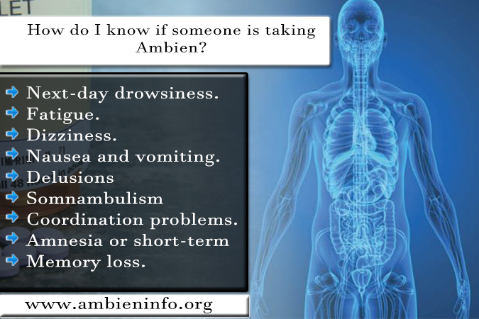 How Do I Know If Someone Is Taking Ambien