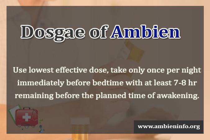 Dosgae of Ambien